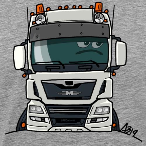 0819 M truck white - Mannen Premium T-shirt