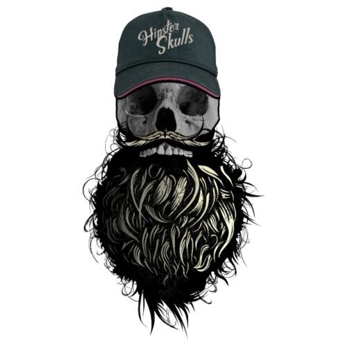 tete de mort hipster casquette logo skull barbu cr - T-shirt Premium Homme