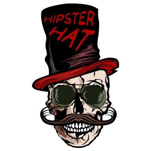 tete de mort hipster hat citation moustache crane - T-shirt Premium Homme