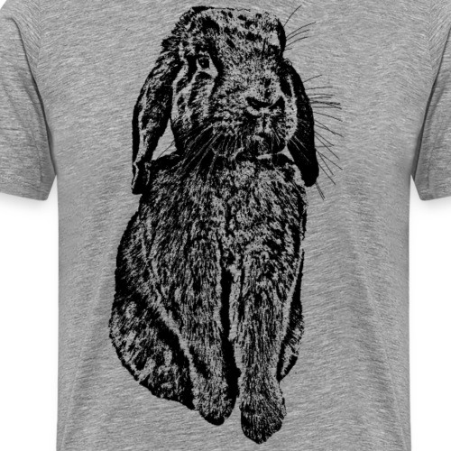 Hase Kaninchen Widder NHD Osterhase Schlappohr - Männer Premium T-Shirt