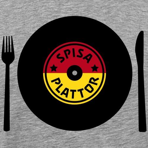 SPISA PLATTOR - Premium-T-shirt herr