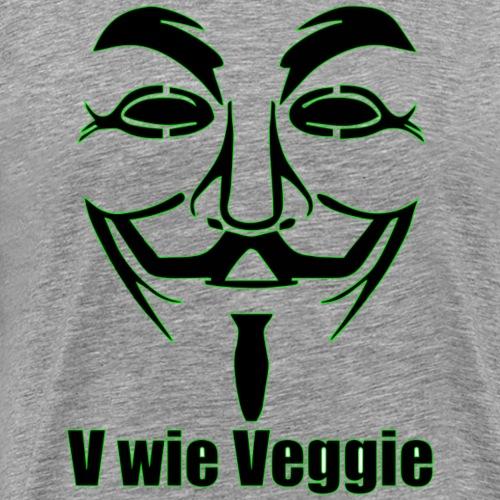 V wie Veggie Geschenkidee - Männer Premium T-Shirt
