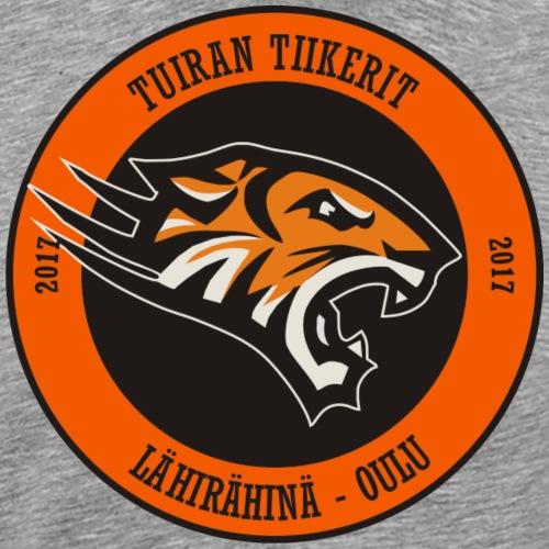 Tuiran Tiikerit, värikäs logo - Miesten premium t-paita