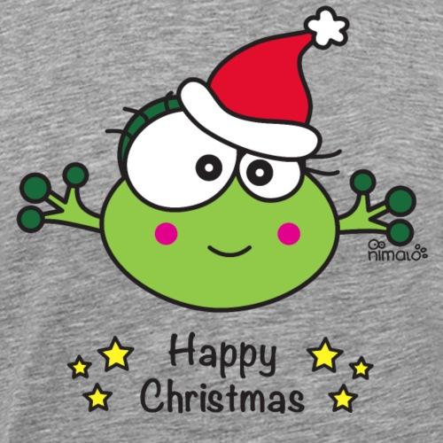 Grenouille F, Frog, Fêtes Nôel, Happy Christmas - T-shirt Premium Homme
