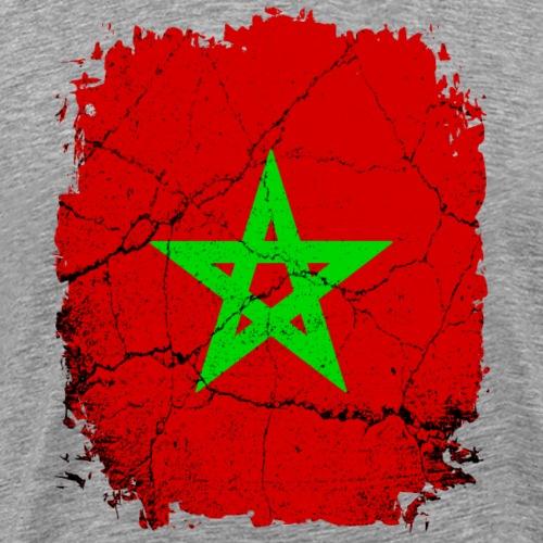 Marokko Marokkanische Fahne Nordafrika - Männer Premium T-Shirt
