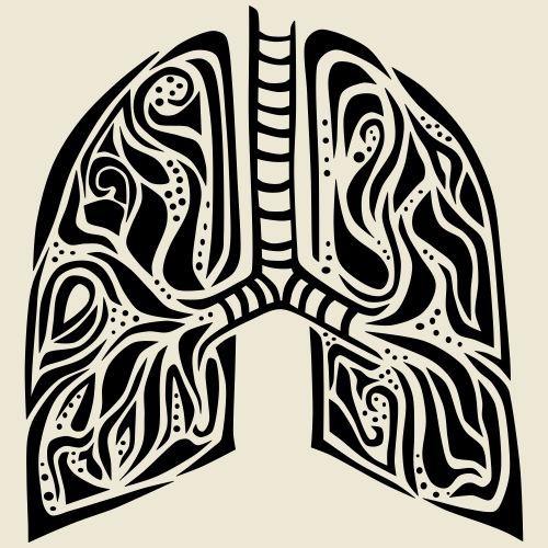 Lungs - Herre premium T-shirt