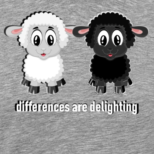 differences are delighting white - Männer Premium T-Shirt