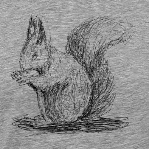 Eichhörnchen, Lineart - Männer Premium T-Shirt