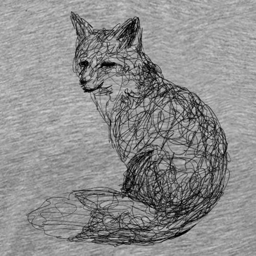 Fuchs Lineart - Männer Premium T-Shirt