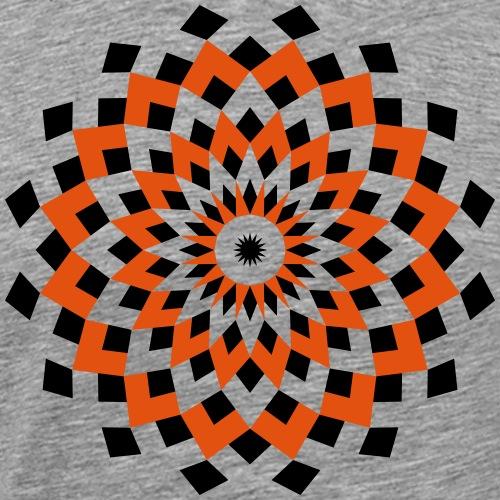 Mandala losanges noir orange - T-shirt Premium Homme