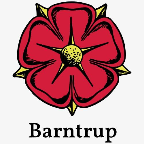 Lippische Rose mit Unterschrift Barntrup - Männer Premium T-Shirt