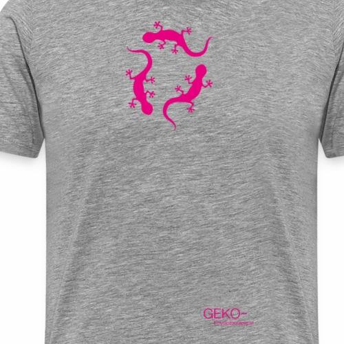 GEKO pink - Männer Premium T-Shirt