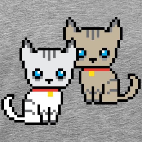 deux chats pixel - T-shirt Premium Homme
