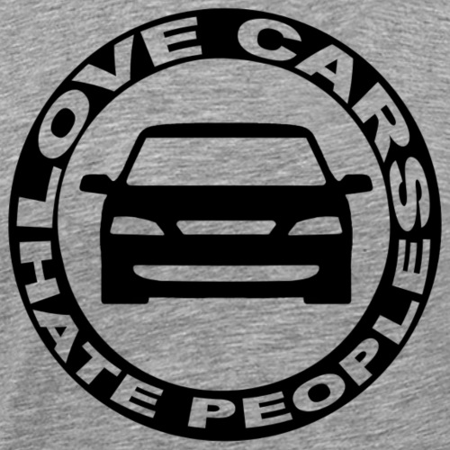 Love Cars Hate People - Männer Premium T-Shirt