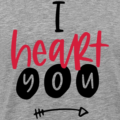 i heart you - T-shirt Premium Homme