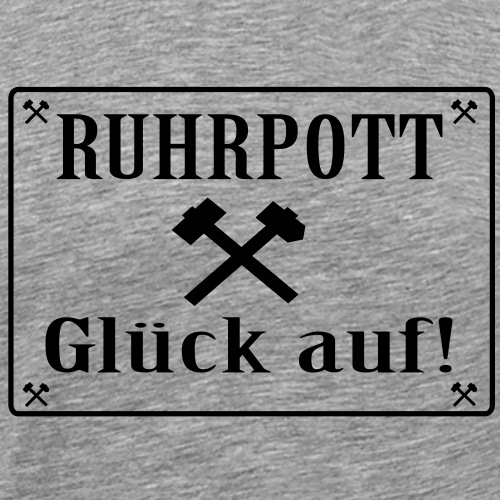 Glück auf! Ruhrpott - Männer Premium T-Shirt