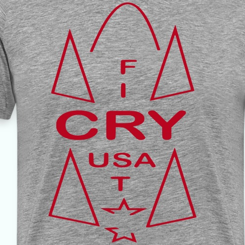 cry usa - Männer Premium T-Shirt