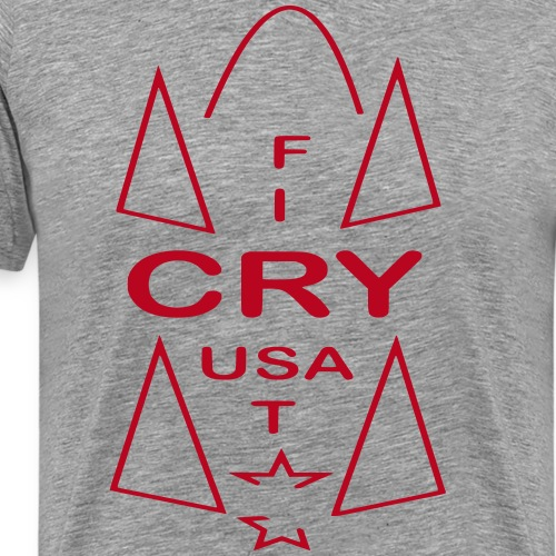 cry usa - Männer Premium T-Shirt