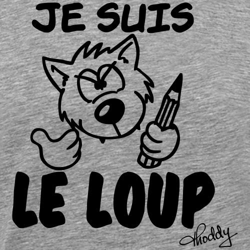 Je suis le loup Wolfsschu - Männer Premium T-Shirt