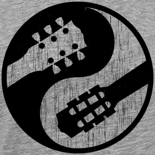 guitare classique vs electrique yinyang usées