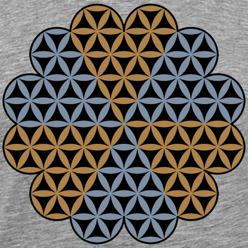 Heart of Life x 6 - Vector with custom colour. - Men's Premium T-Shirt