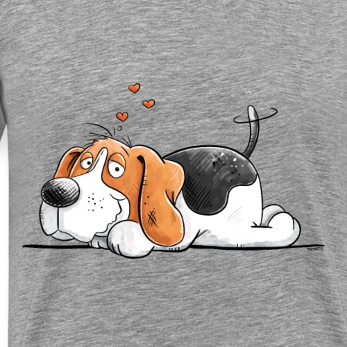 Beagle Love I Hunderasse Comic I Hund - Männer Premium T-Shirt