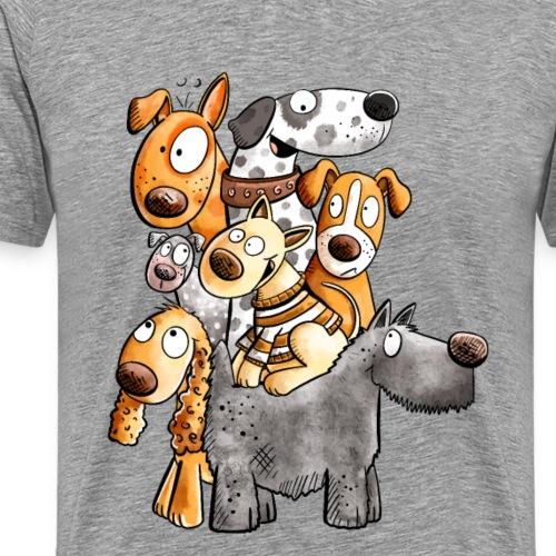 Lustiges Hunde Team I Lustiges Hundemotiv I Hund - Männer Premium T-Shirt