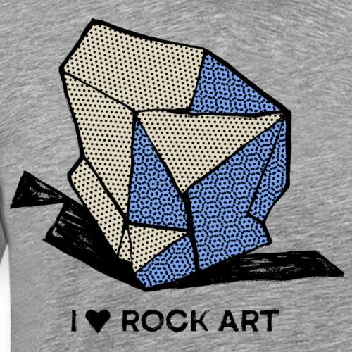 I LOVE ROCK ART No 1 colour - Mannen Premium T-shirt