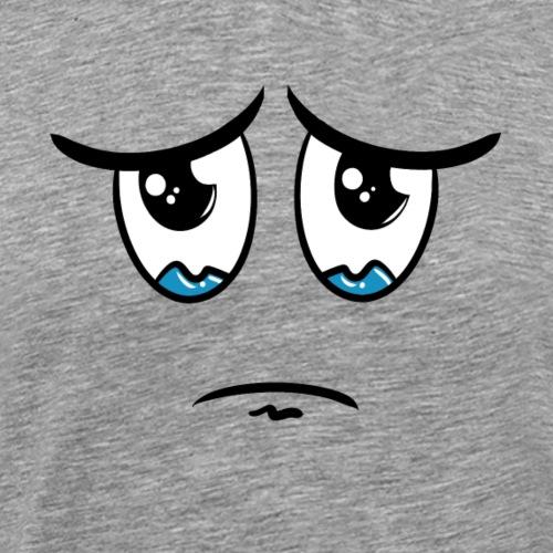 Visage triste / pleure - dessin humoristique drôle - T-shirt Premium Homme