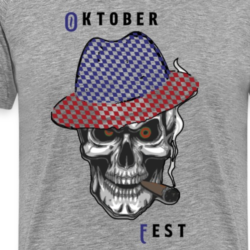 Totenkopf mit Oktoberfesthut - Männer Premium T-Shirt