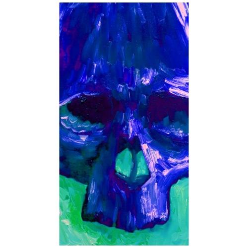 Blue Skull - Mannen Premium T-shirt