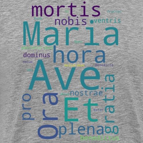 Ave Maria Wortwolke - Männer Premium T-Shirt