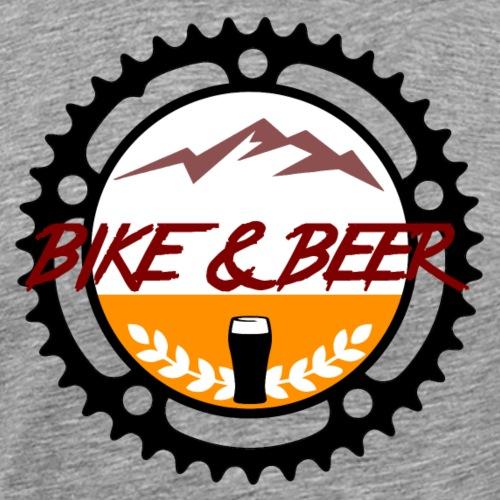 bike & beer black-line - Männer Premium T-Shirt