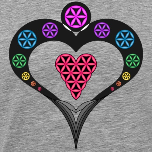 Heart Angel with the Heart of Life - 3D - Men's Premium T-Shirt