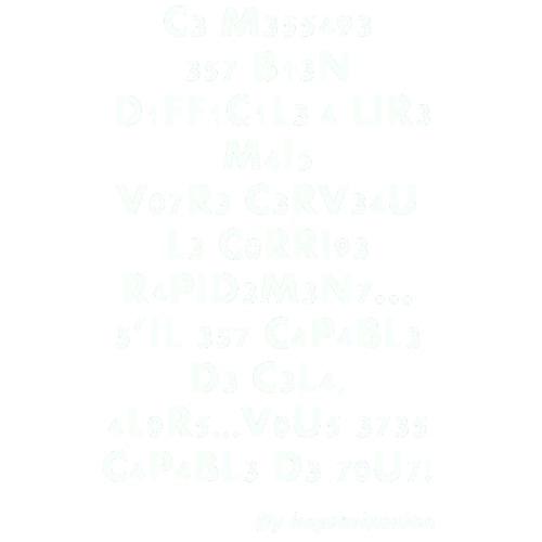 CERVEAUMESSAGE - T-shirt Premium Homme