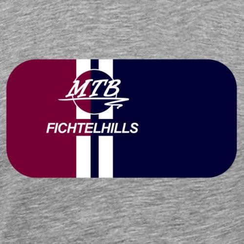 MTB Fichtelhills red blue - Männer Premium T-Shirt
