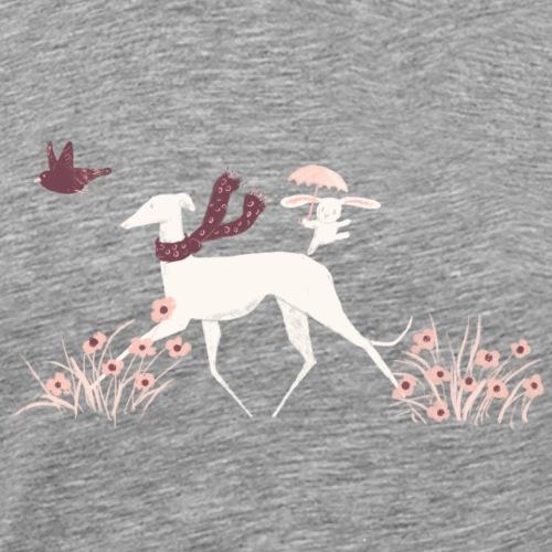 Windhund mit Freunden - Männer Premium T-Shirt