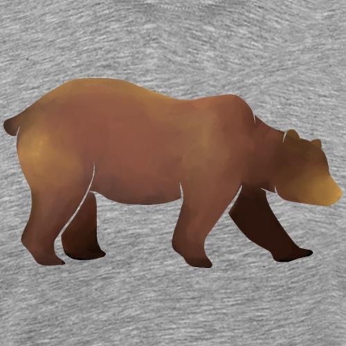 Silhouette eines Bären in Brauntönen - Männer Premium T-Shirt