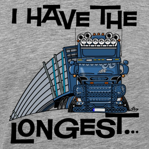 0780 S Truck I have the longest loads (FRONT+BACK) - Mannen Premium T-shirt