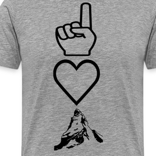 ich liebe matterhorn oder berg schwarz