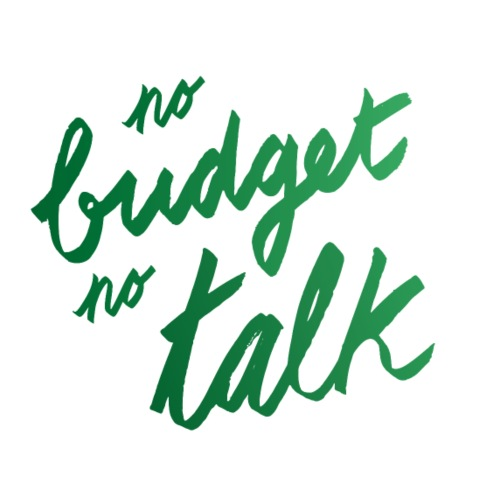 No budget no talk | T-shirts Design - Men's Premium T-Shirt