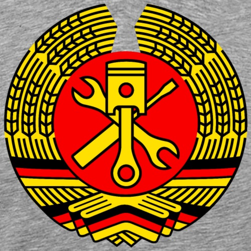 DDR Tuning Coat of Arms 3c (+ Your Text) - Men's Premium T-Shirt