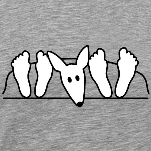 Podenco im Bett - Männer Premium T-Shirt