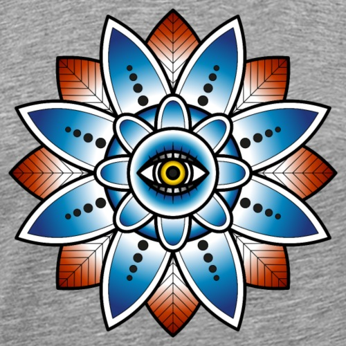 Psychedelisches Mandala mit Auge - Männer Premium T-Shirt