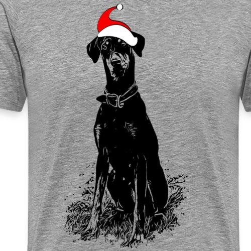 Weihnachten Dobermann Geschenkidee Hund - Männer Premium T-Shirt