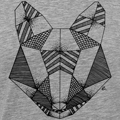Tête de renard origami - T-shirt Premium Homme