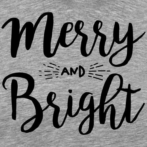 Merry and Bright - Männer Premium T-Shirt