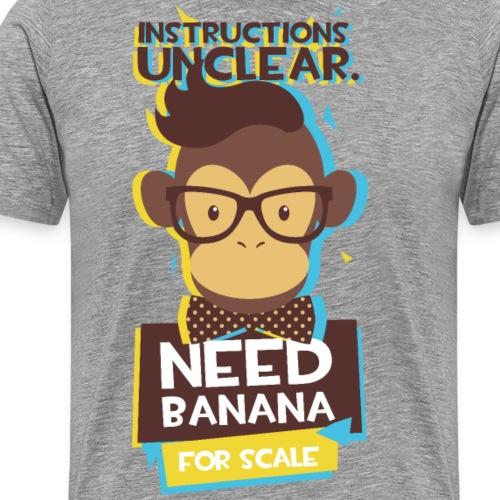 lustiger Affe mit Fliege - Männer Premium T-Shirt