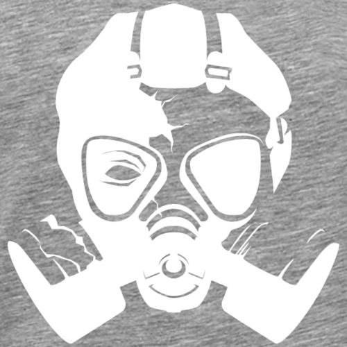 Stencil hvid - Herre premium T-shirt