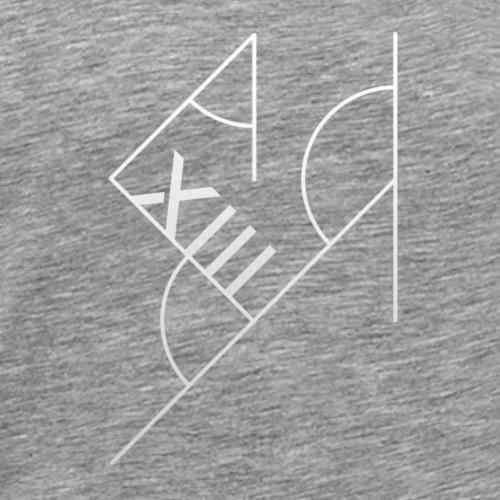 Hvid XIII - Herre premium T-shirt